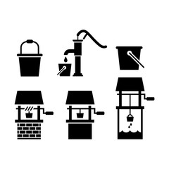Water well icon set