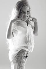Child black and white photo