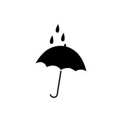 Umbrella in square sign