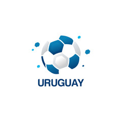 Abstract Uruguay Football Logo designs vector, Soccer championship banner vector