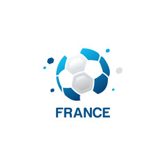 Abstract France Football Logo designs vector, Football championship banner vector