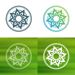 Abstract flower logo template.