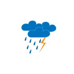 Storm sign. Weather icon