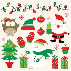 festive christmas icon collection