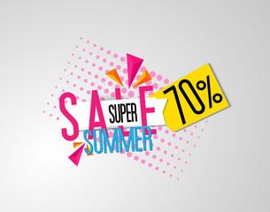 summer super sale tag label
