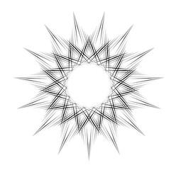 radial motif concentric lines circular design