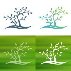 Abstract tree concept logo.
