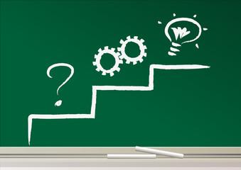 solution - problème - réflexion - idée - stratégie - concept - question - réussite - succès - entreprise