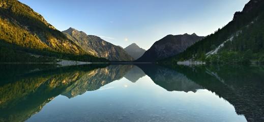 Plansee, Ammergau Alps, evening scene, Reutte, Tyrol, Austria, Europe