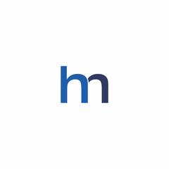 hm letter logo vector