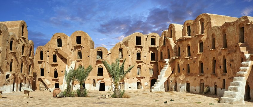 Ksar Ouled Soltane, fortified granary near Tataouine, Tunisia, Africa