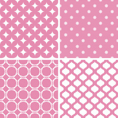 Pastel retro different vector seamless patterns.