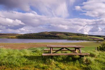Viewpoint. Scottish landscape. Scotland, Great Britain.
