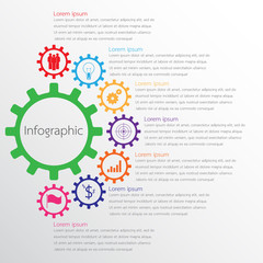 Vector infographic templates used for detailed reports. All 7 topics.