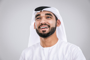 Arabic handsome man studio portraits