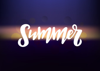 Hand drawn lettering phrase Summer
