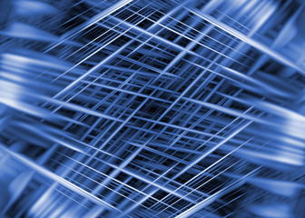 Dynamic black and blue lines background