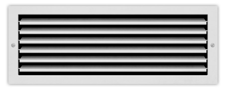Ventilation grill isolated on white background