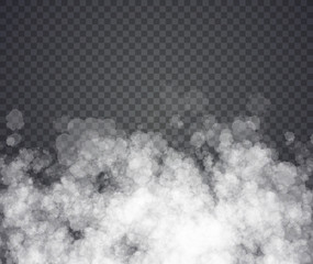 Fog or smoke. Illustration on transparent background. Graphic concept for your design