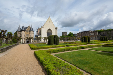 15th century chapel of the Château d'Angers, a castle in the city of Angers in the Loire Valley, in the département of Maine-et-Loire, France