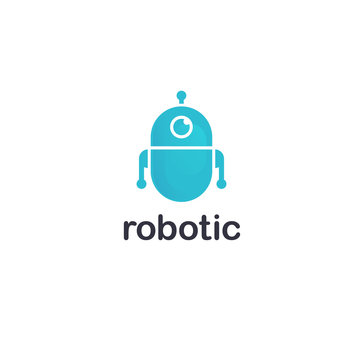 Vector logo design template. Robot icon