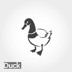 stand duck art, drawing duck art logo, food farm