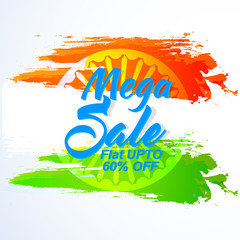 nice and beautiful sale abstract or poster for Independence Day of INDIA or 15th of August with nice and creative design illustration.