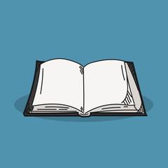 Book illustration on color background