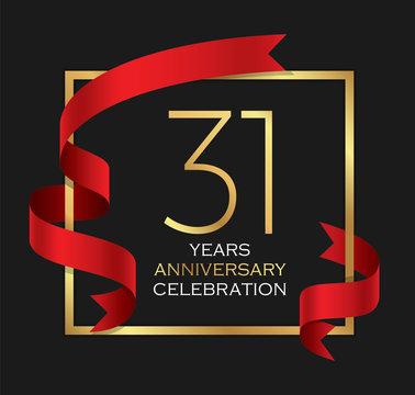 31st years anniversary celebration background