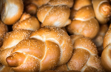 Fresh Challah for sale at local city market