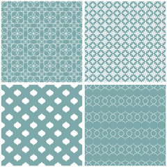 Cute different vector seamless patterns.