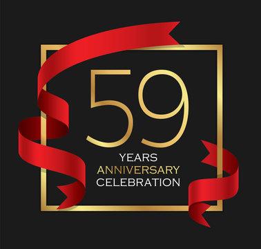 59th years anniversary celebration background