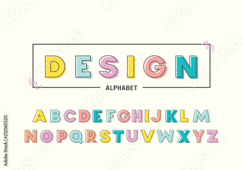 Colorful alphabet memphis style with geometric punchy pastel color colorful alphabet memphis style with geometric punchy pastel color typeface font design for birthday filmwisefo
