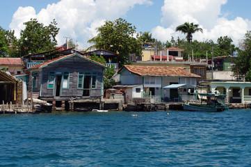 Habitations proches de la forteresse de Cienfuegos