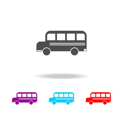 school bus icon. Elements of education in multi colored icons. Premium quality graphic design icon. Simple icon for websites, web design, mobile app, info graphics