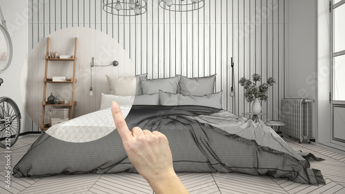 Hand Pointing Interior Design Project Home Project Detail Deciding Gorgeous House Decoration Bedroom Minimalist Remodelling