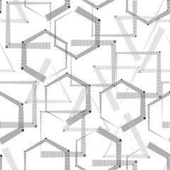 Abstract geometric pattern from the lines of strips,  square, triangle, star, polygon, ornament, seamless pattern, texture, high. For wallpapers and fabrics. Vector illustration.