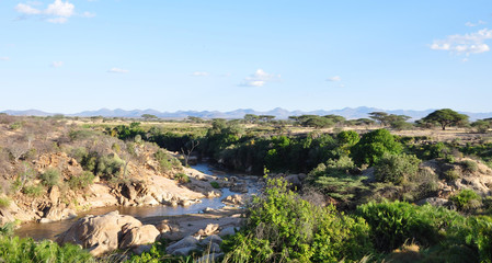 Foto auf Leinwand Fluss Ngiro River in Shaba & Samburu National Park near Joy's Camp