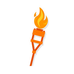 Burning tiki torch icon