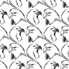 Eagles vector seamless pattern design