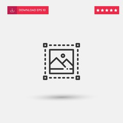 Outline Image Icon isolated on grey background. Modern simple flat symbol for web site design, logo, app, UI. Editable stroke. Vector illustration. Eps10