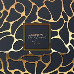edler luxuriöser golden glänzender abstrakter Hintergrund mit Rahmen
