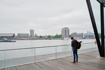 Amsterdam, june 2018. View from the EYE film museum.