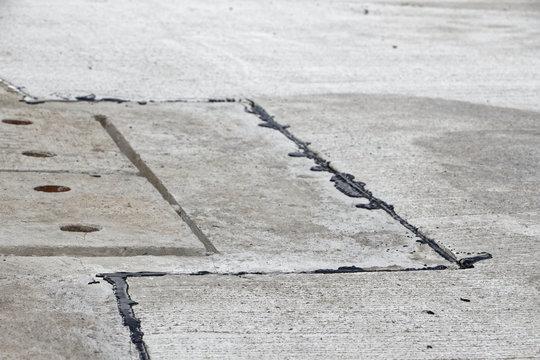 Asphalt crack filler, driveway asphalt crack repair, cold liquid, joint sealant Joint Seal, Concrete