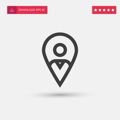 Outline Placeholder Icon isolated on grey background. Modern simple flat symbol for web site design, logo, app, UI. Editable stroke. Vector illustration. Eps10
