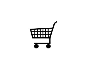 Isolated illustration of a stylized shopping cart side on white background