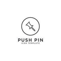 Push pin icon design template