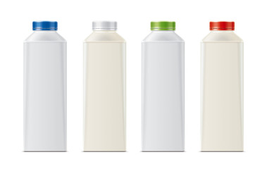 Bottles for milk, dairy and other drinks.