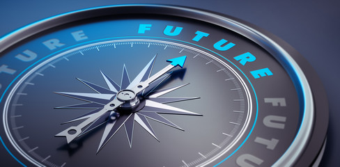 Dunkler Kompass - Konzept Zukunft