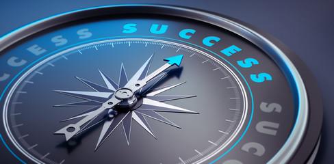 Dunkler Kompass - Konzept Erfolg